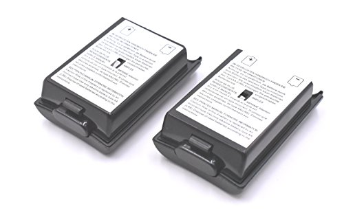 2pcs Battery Cover for Microsoft Xbox 360 Wireless Controller (Black)