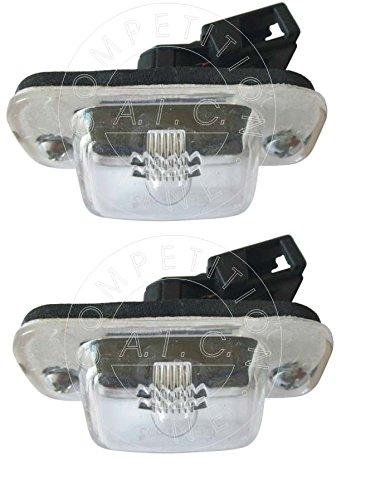 SET 2 x Kennzeichenbeleuchtung Nummernschildbeleuchtung Kennzeichenleuchte Leuchte KOMPLETT mit Schrauben Glühlampe und Dichtung passend für 1H1 1E7