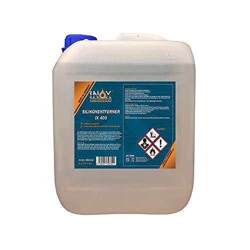 INOX® IX400 Silikonentferner, 5L - Universeller Reiniger zum Lösen und Entfernen von Silikon, Fett, Öl und Wachs