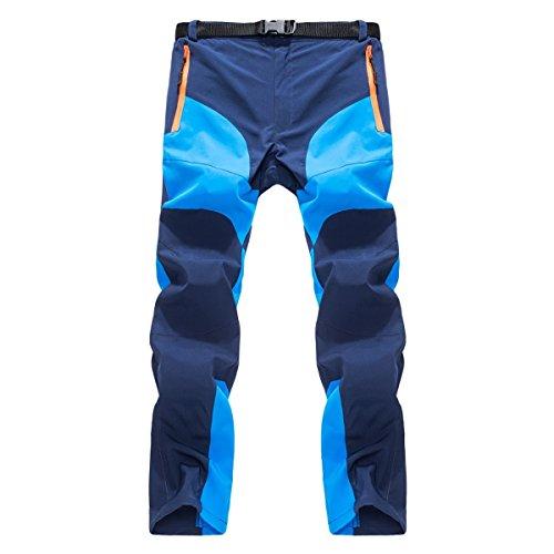 Yodensity Homme Pantalon De Sport Respirant À Séchage Rapide Coupe-Vent Anti-UV avec Ceinture pour Camping Randonnée Pêche Escalade Sport en Plein Air Automne Printemps Été