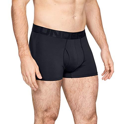 Under Armour Tech Mesh Lot de 2 sous-vêtements pour Homme 7,6 cm, Homme, sous-vêtement, 1330639, Noir (001) / Gris Jais Clair chiné., 3XL