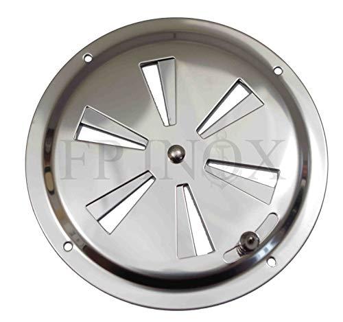 FP Inox Grille d'aération Réglable Ronde 125mm inox A2 Argent