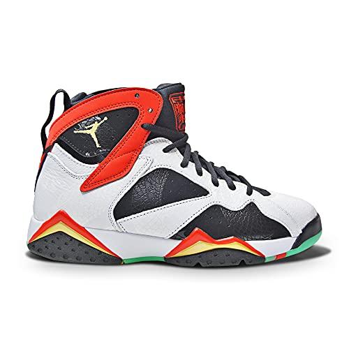 Nike Air Jordan 7 Retro GC, Zapatillas de bsquetbol Hombre, White Chile Red Black Mtlc Gold, 38.5 EU