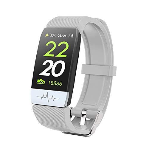 ZHICHUAN Intelligente Uhr, 1,14-Zoll-Bildschirm, Fitness-Tracker, Sport-Schrittzähler-Armband, Nachrichtendruck, Intelligente Erinnerung, Ip67 Wasserdicht, 90Mah Tägliche tragen. / Silver gra