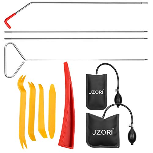 Essential Automotive Car Tool Kit with Air Wedge, Long Reach Grabber and Non Marring Wedge, Multifunctional Tool Set for Cars Trucks