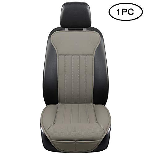 BLACK PANTHER Sitzauflage Auto, Autositzbezüge Vordersitze Vier Jahreszeit Universal Anti-Rutsch Sitzauflagen Auto Fahrersitz mit Rückenlehne(1PC,Grau)
