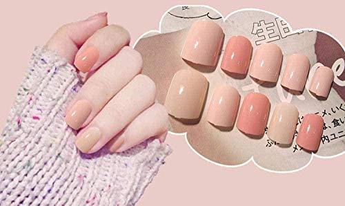 CSCH Faux ongles Faux ongles 24 pièces de manucure finies de faux ongles courts solides