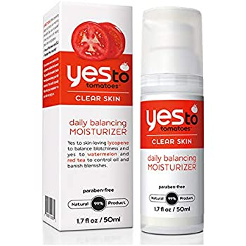 Yes To Tomatoes Daily Balancing Moisturizer for Clear Skin - Face Moisturizer Packed w/ Tomatoes, Watermelon Extract & Sweet Almond to Balance Skin | 1.7 fl ounce