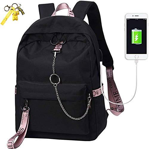 LJFG Escuela Mochila Talega De Libros Colegio Ordenador Portátil USB Mochila Casual Viajes Daypack para Adolescente Chicas Y Mujeres,2#