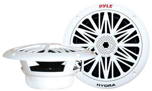 "4) NEW PYLE PLMR82 8"" 600W 2-Way Waterproof Marine/Boat Speakers White 2 PAIRS"