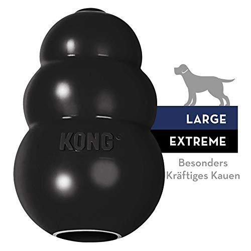 KONG - Extreme Gioco cani - Gomma naturale ultra resistente, nero - Masticare e riportare - L