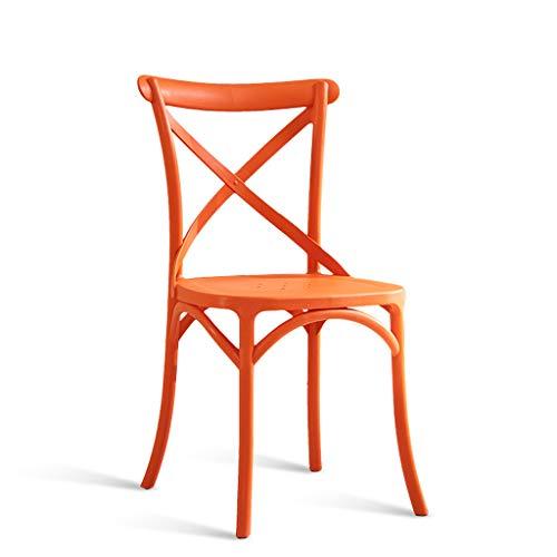PLL American Dining Chair volwassenen bureaustoel eenvoudige creatief plastic stoel Home Vrijetijdsstoel Mode terug kruk Oranje