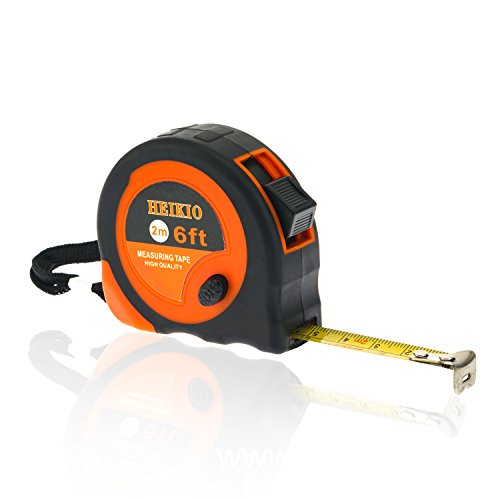 Tape Measure 6 Feet (2 Meters), Metric and Inch Scale, Sturdy Mark for Easily Reading- Portable Measuring Tape by HEIKIO