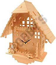 Reloj cucú: Madera Asamblea Craft Kit Reloj de construcción de madera