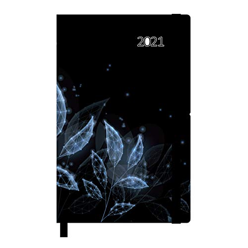 Idena 10896 - Agenda 2021, 90x140 mm, aus FSC-Mix, Natur, 1 Stück