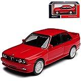 Modelo de coche B-M-W Serie 3 E30 M3 Coupe Sport Evolution rojo 1982-1994 1/43 Norev con matrícula personalizable