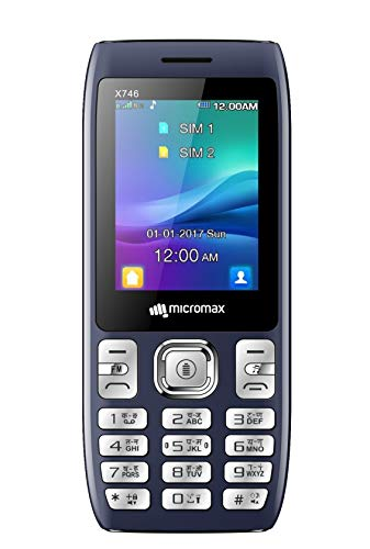 Micromax X746 (Power Saving Mode, Power Torch Link on Call, 3000mAh) (Blue)