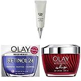 Olay Eyes Pro-Retinol Tratamiento de ojos + Crema Hidratante De Noche Con Retinol + Crema facial con niacinamida y péptidos