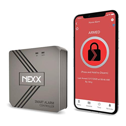 Nexx Smart Alarm Wi-Fi Controller NXAL-100 - Remotely Control Existing Alarm Security System with Nexx App, Works with Amazon Alexa, Google Assistant, Siri, SmartThings, No Monitoring Service Required