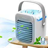 Portable Air Conditioner, Portable Cooler, Quick & Easy Way to Cool Personal Space, As Seen On TV, Suitable for Kitchen, Bedside, Tent, Baby's Room, Office and Small Room, Three Wind Level Adjustment…