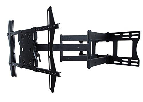 SunBriteTV Dual Arm Articulating (Full Motion) Outdoor Weatherproof Mount for 37' - 80' TV Screens & Displays - SB-WM-ART2-L-BL (Black)