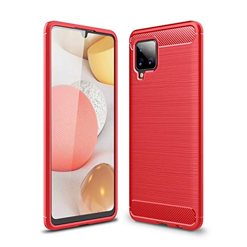 BAIDIYU Case for vivo Y72 5G, Anti Scratch, Slim Shockproof TPU Bumper Cover Flexible Protective, Phone Case for vivo Y72 5G.(Red)