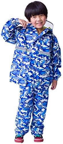 Studenten die naar school gaan Regenjas, kinderen regenjas jongen en meisje Scheid regenjas regenbroek Student Raincoat Set Double Raincoat (Color : A, Size : Large)