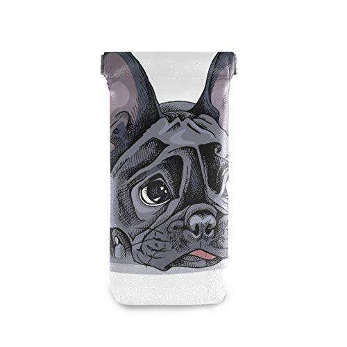 ZZCDD French Bulldog Portrait Sunglasses Pouch Squeeze Top Eyeglasses Cases Microfiber Leather Soft Sunglasses Case Glasses Cases Goggles Case Eyeglasses Holder Storage