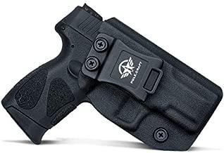 Taurus G2C Holster IWB for Taurus G2C & Millennium PT111 G2 / PT140 Concealed Holster for Taurus G2C 9mm Gun - Kydex Holster Taurus PT111 G2C Concealed Carry Pistol Case (Black, Left Hand)