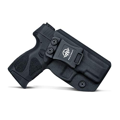 Taurus G2C Holsters IWB for Taurus G2C & Millennium PT111 G2 / PT140 Concealed Holster for Taurus G2C 9mm Gun - Kydex Holster Taurus PT111 G2C Concealed Carry Pistol Case (Black, Right Hand)