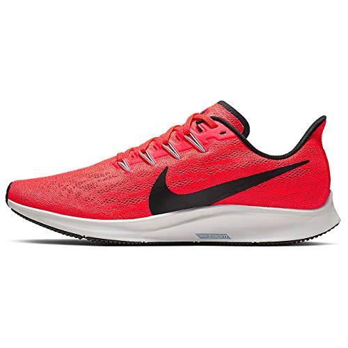 Nike Air Zoom Pegasus 36, Scarpe da Atletica Leggera Uomo, Multicolore (Bright Crimson/Black/Vapste Grey 600), 42 EU