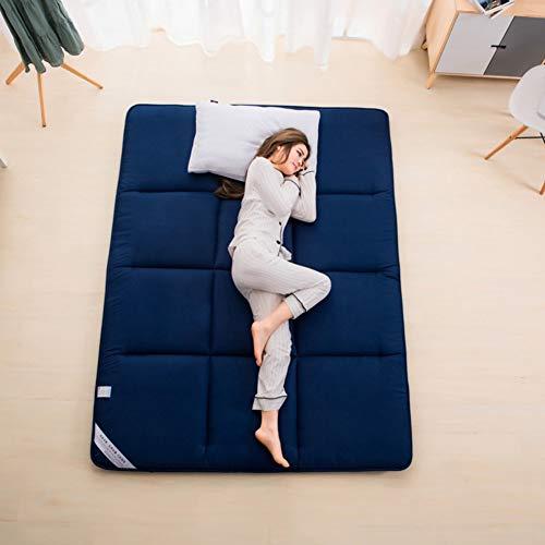 YLCJ Einfarbig Faltbare Matte, Faltbare Tatami Pad Matratze schlafen Schleifen tragbare Isomatte-A 100 x 195 cm (39 x 77 Zoll)