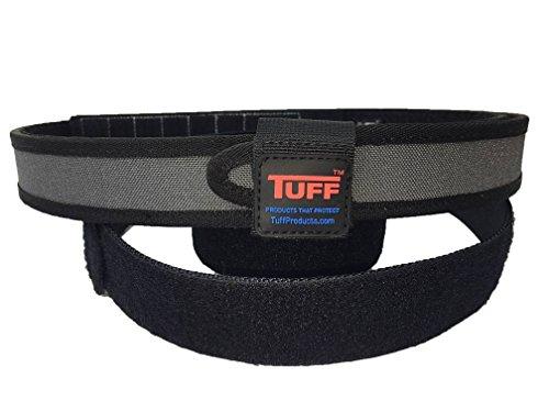 Quik2U TUFF SureFit Competition Belt Set Inner and Outer Belt with Keeper (Gray/Black, Medium 34-40)