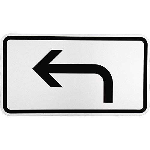 """ORIGINAL Verkehrsschild Nr. 1000-11 """" Vorankündigung linksweisend """" Verkehrszeichen Schild Straßenschild Zusatzschild Verkehrsschilder Verkehrsschild Straßenzeichen Linkspfeil gebogener Pfeil StVo"""