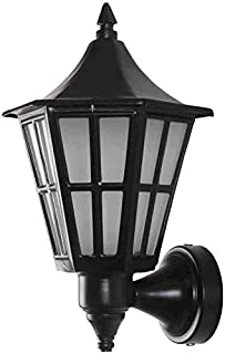 Improvhome Antique Look Black Color Hurricane Shaped Indoor Outdoor Wall Light Wall Lamp Lighting (Black)