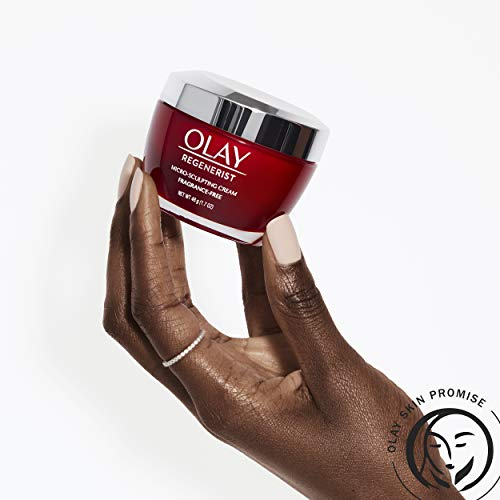 41vVbJX3V2L - Olay Regenerist Micro-Sculpting Cream Face Moisturizer with Hyaluronic Acid & Vitamin B3+, Fragrance-Free, 1.7 Oz + Whip Face Moisturizer Travel/Trial Size Bundle