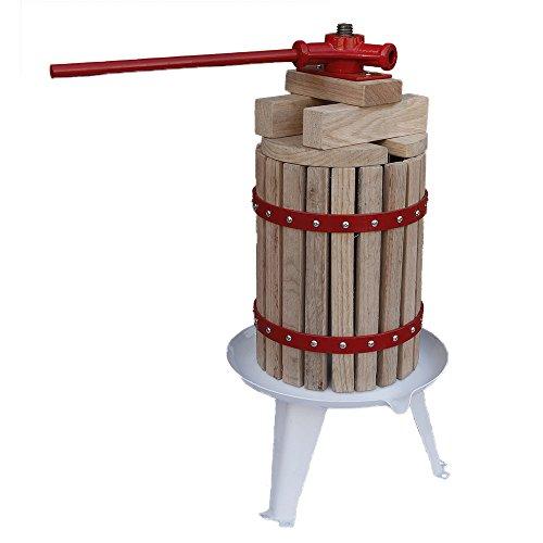 Grafner® Obstpresse 6L Fruchtpresse Weinpresse Saftpresse Maischepresse Apfelpresse Obstmühle Beerenpresse 6 Liter Presstuch