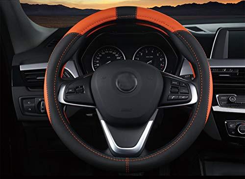 Mayco Bell Classic Car Lenkradbezug Vier Abschnitte Medium 15 Zoll Fit Für Die meisten Auto Orange