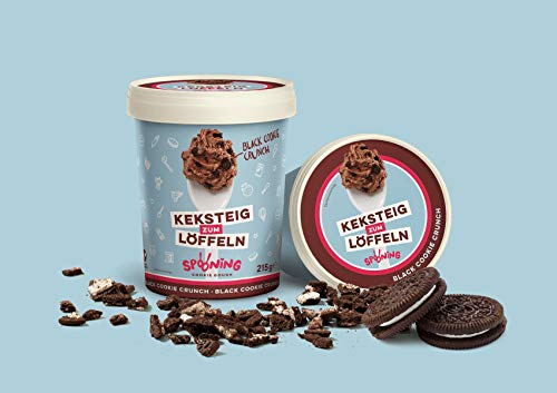Original Spooning-Cookie-Dough Keksteig zum Löffeln / Keksteigmischung – 4x 215G – Black Cookie Crunch | Vegan