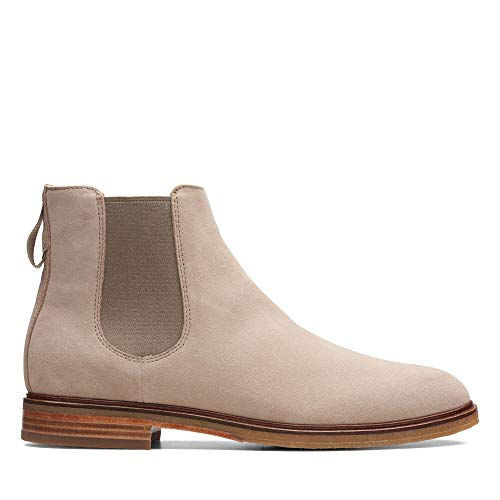 Clarks Herren Clarkdale Gobi Chelsea Boots, Beige (Sand Suede), 43 EU