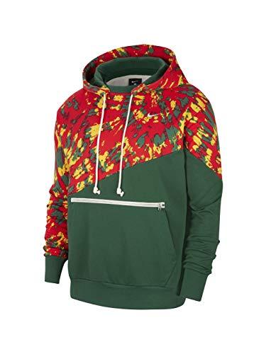Nike Sweatshirt M NK Throwback PO Hoodie, Grün M