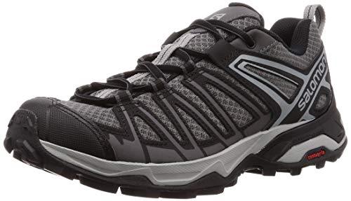 Salomon X Ultra 3 Prime, Zapatillas de Senderismo para Hombre, Gris/Negro (Magnet/Black/Monument), 43 1/3 EU