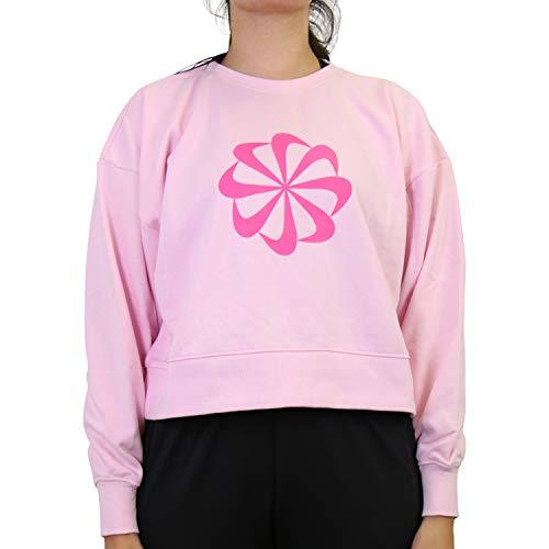 NIKE Icon Clash Dry PT TP GD Sweatshirt Sudadera para Mujer, Color Rosa Espuma, Small