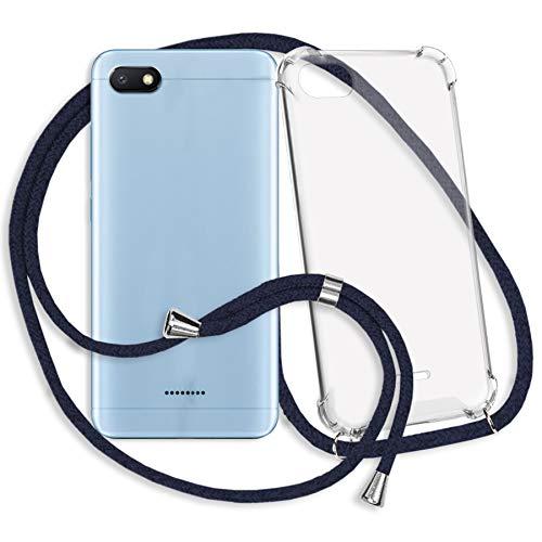 mtb more energy® Collar Smartphone para Xiaomi Redmi 6A (5.45'') - Negro - Funda Protectora ponible - Carcasa Anti Shock con Cuerda