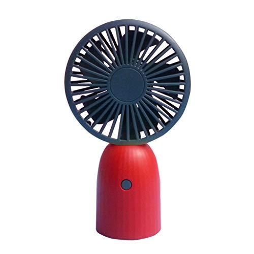 Tragbarer Handventilator USB Ventilator USB Lüfter Mini Hand Ventilatoren Tischventilator Lüfter Elektrischer Handheld Fan Muss für Reie Büro Schlafzimmer Outdoor Unterwegs (Rot)