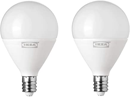 RYET LED bulb E12 200 lumen, globe opal - 2 Pack