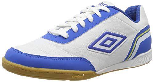 Umbro Herren Futsal Street V Futsalschuhe, Weiß (White/Tw Royal/Electric Blue/Blazing Yellow FNW), 40.5 EU