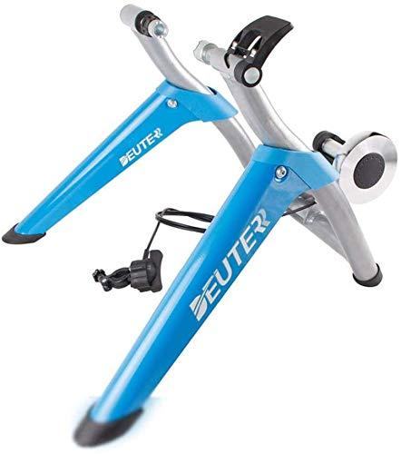 ALYR Rouleau de Vélo, Home Trainer Vélo Trainer Magnétique pour Vélo Fitness Entraineur pour Vélo Support d'entrainement pour Vélo Support pour Entraîneur de vélo,Blue_Free Size