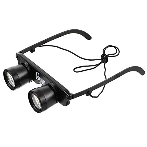 BESPORTBLE - Gafas prismáticas con manos libres, 3 x 28 prismáticos para la pesca, observación de aves, viajes, turismo, deportes al aire libre, conciertos, teatro de televisión