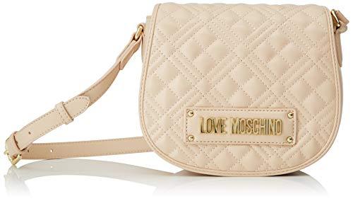 Love Moschino Damen Jc4006pp1a Umhängetasche, Beige (Naturale), 9x17x20 Centimeters